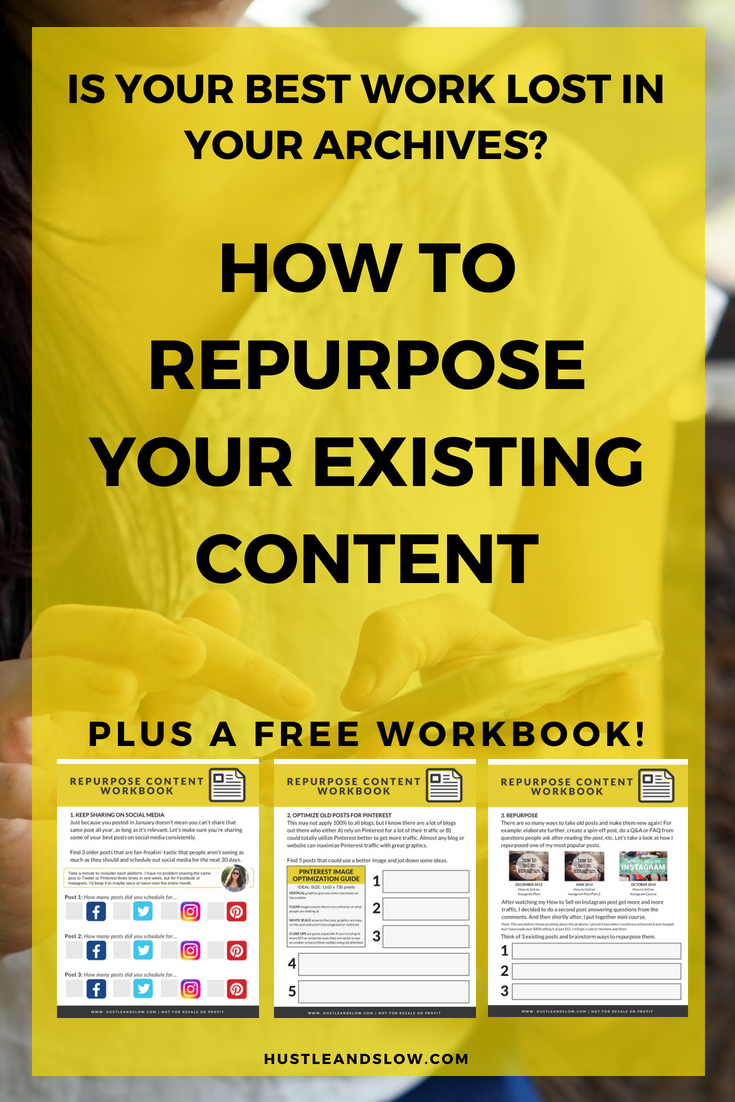 How to reuse your existing content