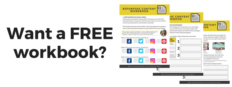 repurpose your existing blog post content workbook