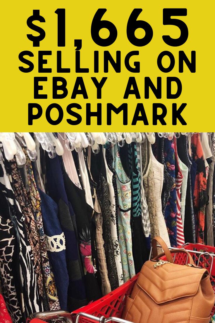 $1,665.73 selling on Ebay and Poshmark