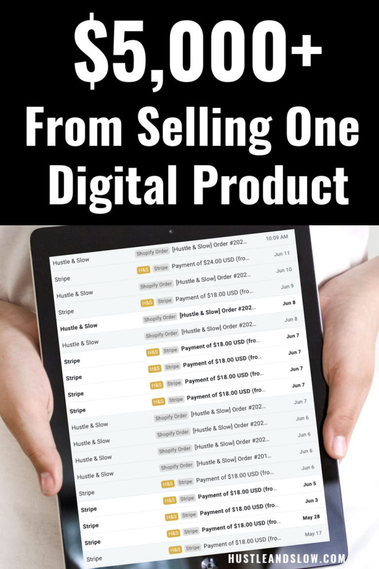 Selling Digital Products: Over $5k with One Spreadsheet