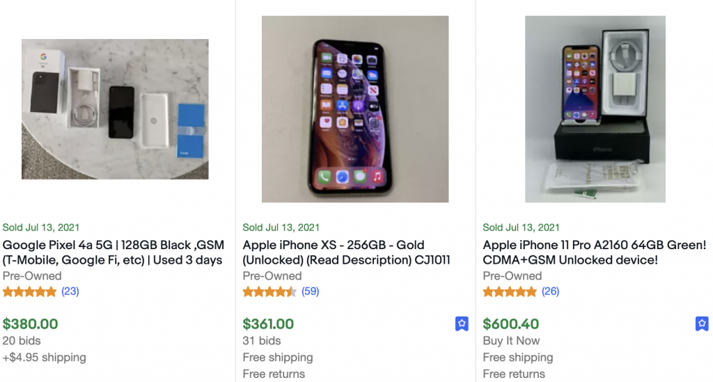 best selling cell pones on ebay