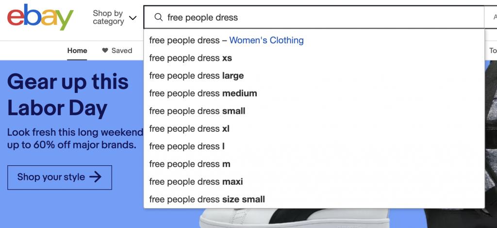 ebay search free people dress
